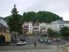 zachycené panorama centra Wamberzic z ochozu kostela